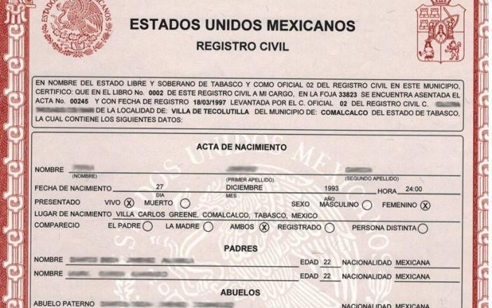 Tramitar Actas en Mexicali
