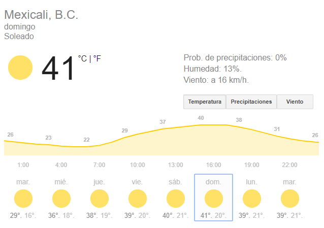 calor mexicali