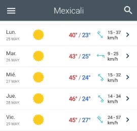 temperatura mexicali clima